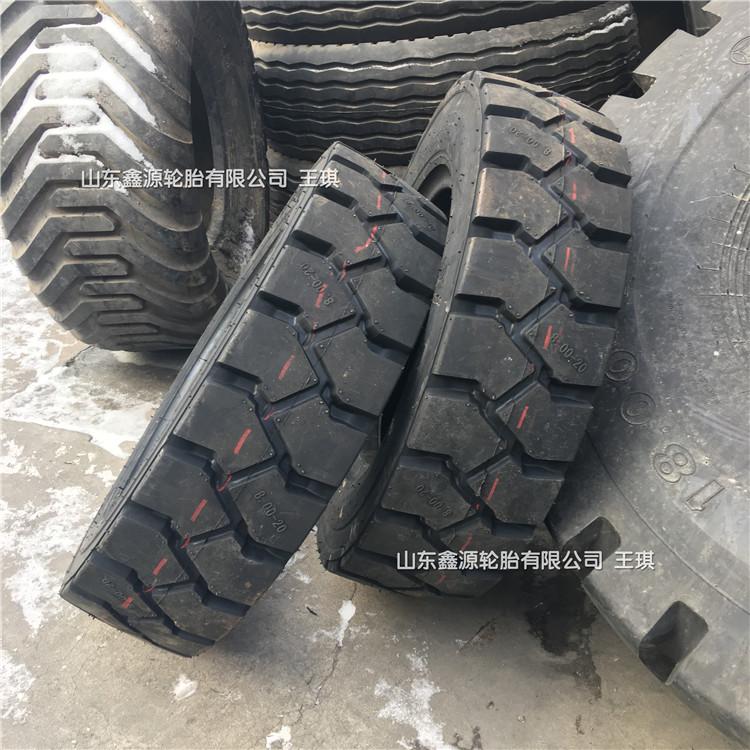 鲁飞天力 行进风神矿山工程机械轮胎8.00-20大