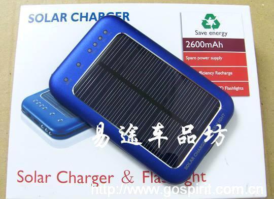 **充 蓝色单晶硅太阳能充电器LED