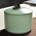 龙泉青瓷茶叶罐锡密封哥窑茶叶罐陶瓷紫砂储存罐汝窑茶具