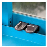 平移门窗儿童安全锁防盗锁扣 推拉塑钢铝合金窗户限位器
