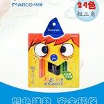 MARCO马可1650油彩铅笔粗三角杆五颜六色铅笔 油
