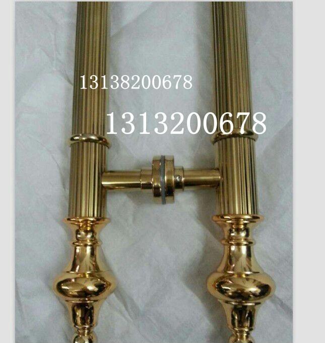 钛金不锈钢直纹管拉手 大门不锈钢钛金直纹管拉手供应商