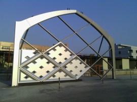 热镀锌钢结构幕墙件热镀锌造型幕墙结构件建筑幕墙结构钢