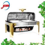 长方形镀金高级构思自助餐炉布菲炉酒店可电加热早餐餐
