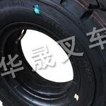 青岛平度市厦工叉车垫式轮胎转向轮特价批发:华晟叉车