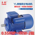 供应商供应YL-0.55KW-4KW-2极单相异步电动